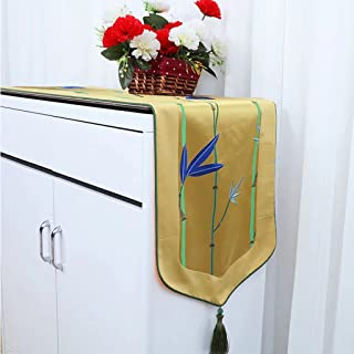 CYALZ Fiore giallo Pattern Cloth Tavolo da tavolo Tovaglia Tavolino da tavolo Tovaglia Tovaglia lunga Moderno semplice Moda Upscale Soggiorno Cucina Ristorante Hotel Home Textiles (Questo prodotto solo vende corridore da tavolo) 33 * 180cm
