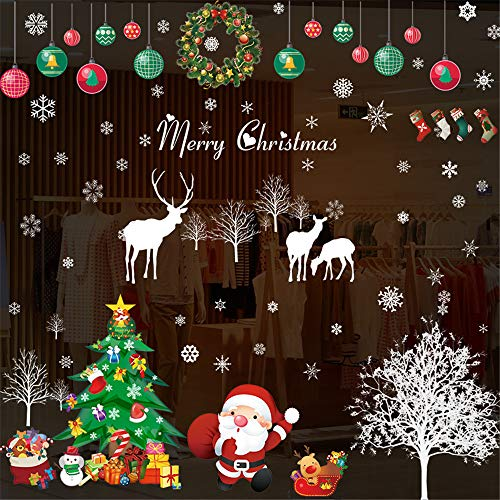 Moose Christmas Wall Decals Christmas Decoration Wall Decals Christmas Decoration Elk Decor Christmas Garland Shop Window Glass Wall Stickers Merry Christmas Home Decals