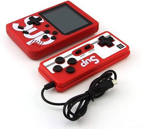SMAA Retro Mini Consola de Juegos portátil, Incorporado con 400 Juegos clásicos, Soporte para conectar TV y Dos Jugadores, Presente 1020mAh batería Recargable,Rojo: Amazon.es: Hogar