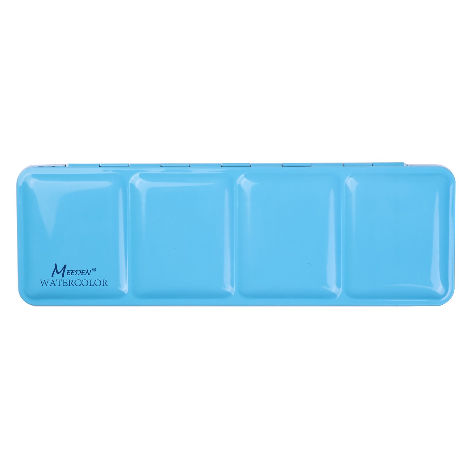 MEEDEN Empty Watercolor Tins Box Palette Paint Case, Medium Blue Tin with 24 Pcs Half Pans 4336974732