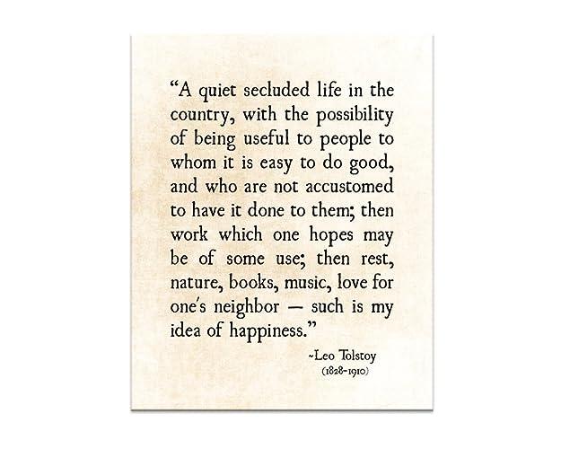 Amazoncom Life Quote Happiness Quote Leo Tolstoy Inspirational