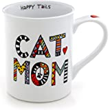 Our Name Is Mud 16-Ounce 'Cuppa Doodles Cat Mom' Mug by Lorrie Veasey, 4.5-Inch