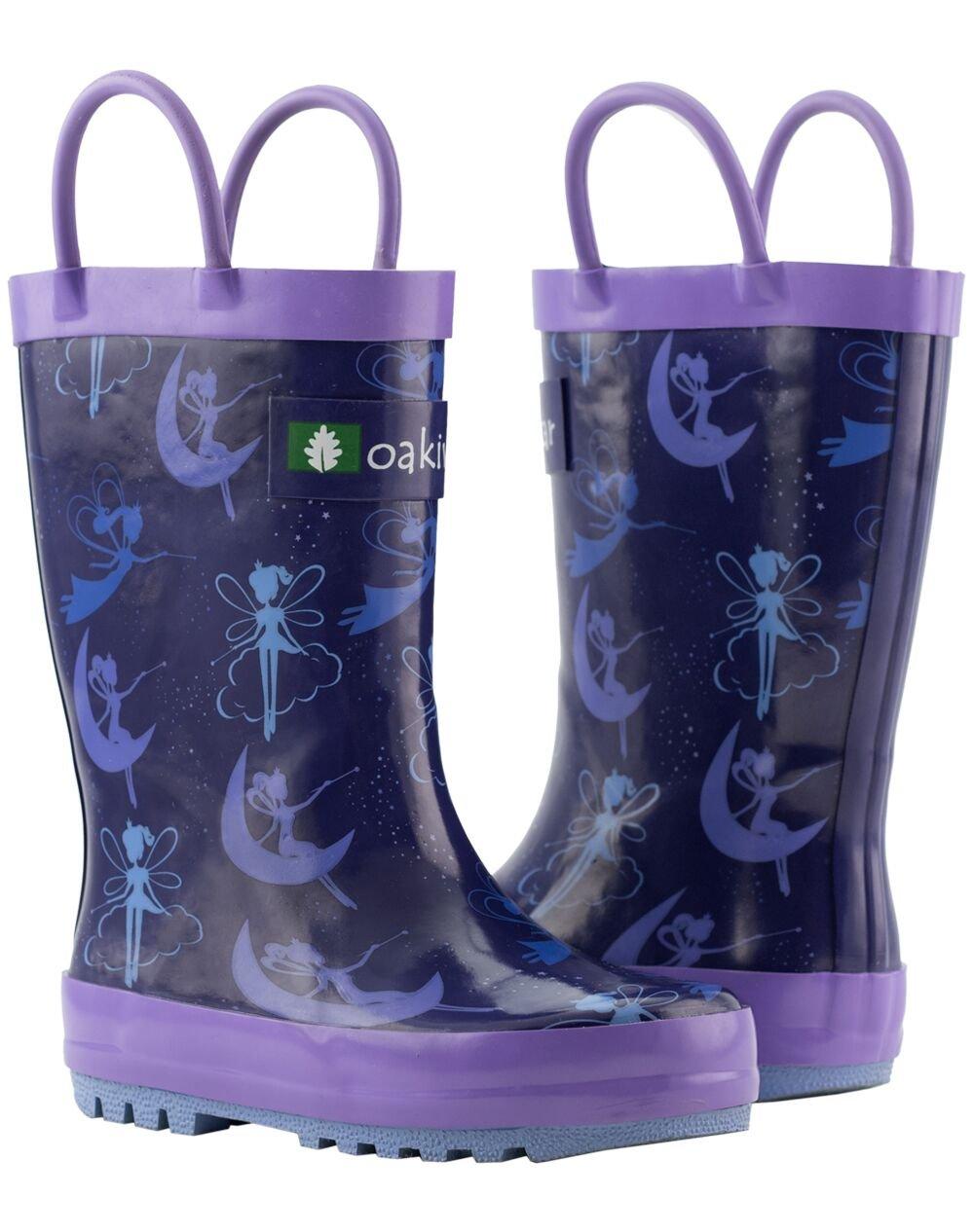 Oakiwear Kids Rubber Rain Boots with Easy-On Handles, Fairy Dust, 1Y US Little Kid by Oakiwear (Image #10)