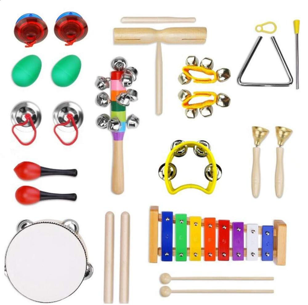 13PCs Wooden Kids Baby Musical Instruments Set Toys Music Children Percussion UK