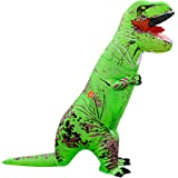 Wild Cheers Inflatable Costume Adult, Inflatable Dinosaur Costume, Fancy Dress, Blow Up T-Rex Costume for Party Gifts Halloween (Green)