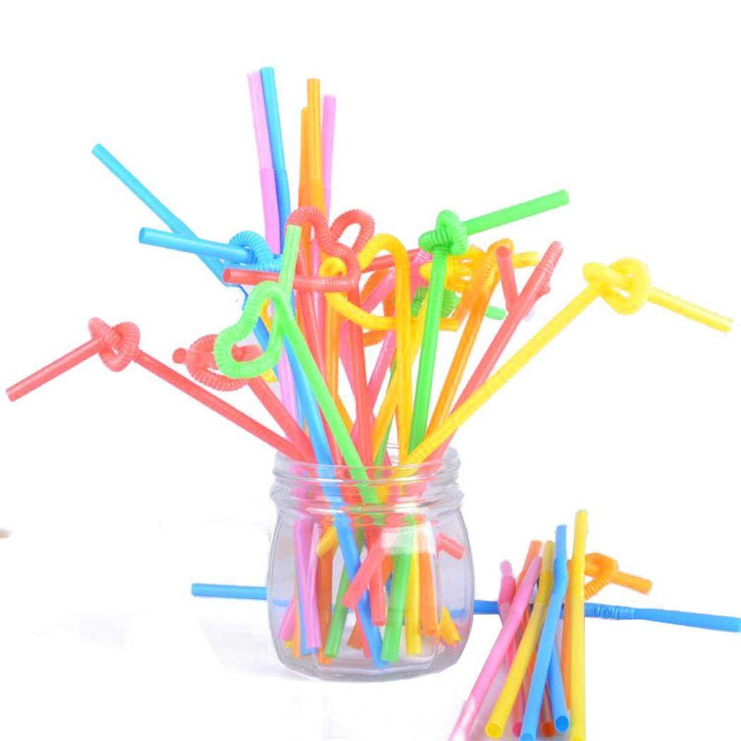 Kikole 100pcs Durable Heat Resistant Disposable Straw Drink Straw Tool & Gadget Sets