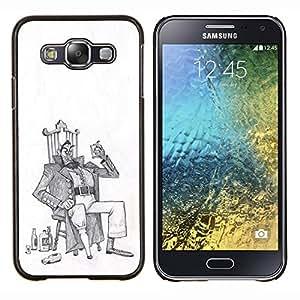 Stuss Case / Funda Carcasa protectora - Alcool homme ivre Art dessin au crayon - Samsung Galaxy E5 E500