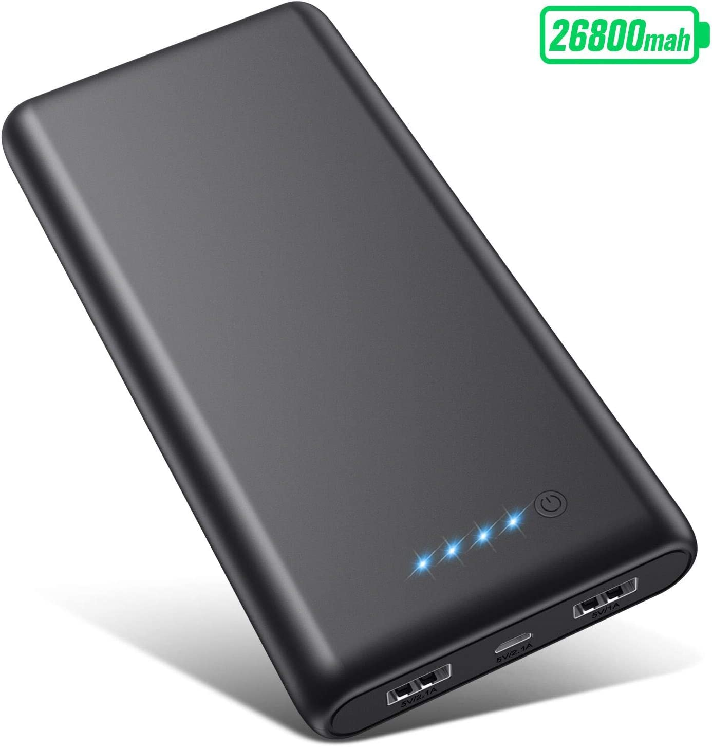 VOOE Power Bank 26800mAh,【Alta efficienza - Altissima capacità】 Carica Batterie...