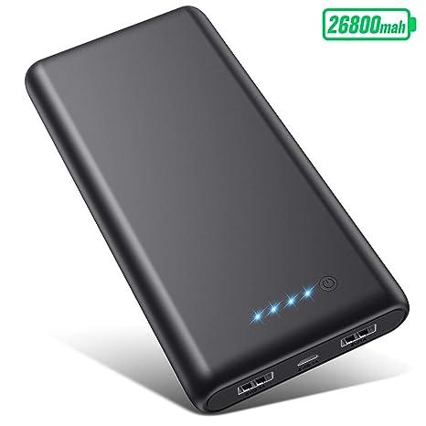 VOOE Batería Externa [26800mAh Versión Más Nueva] Power Bank Carga Rápida Cargador Movil Portatil con 2 Salidas USB y 4 Indicadores de LED Bateria ...