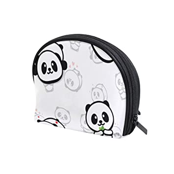 eeaae2d57815 U LIFE Cute Black White Panda Love Heart Cosmetic Bag Makeup ...