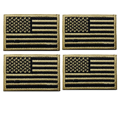 4 Pieces American Flag Embroidered Patches USA Flag Patch Decorative Embroidered Appliques 2