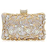 Women Crystal Clutches Bridal Evening Bags And Clutches For Women Large Handbag Clutch Purse With Strap (Light Purple)