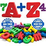 Magnetic letters - Magnetic numbers - Alphabet magnets - Alphabet letters - ABC magnets - Letter magnets - SET of 67- Foam letters number magnets for kids - Magnetic fridge - Magnetic 123 ALPHABET