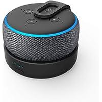 Base de bateria GGMM D3 para Alexa Echo Dot 3ª geração, uso livre Dot 3rd na cozinha, banheiro, varanda ou jardim, preta…