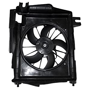 AC A/C Condenser Cooling Fan Assembly Replacement for 02-09 Dodge Ram Pickup Truck 5093760AA