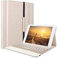 SENGBIRCH IPad pro 9.7 Tastatur Hülle, iPad pro 9.7 Case mit 7 Farbe Hintergrundbeleuchtung Ultra-dünn QWERTZ Bluetooth Tastatur und Auto Schlaf/Aufwach Funktion für iPad pro 9.7, Gold …