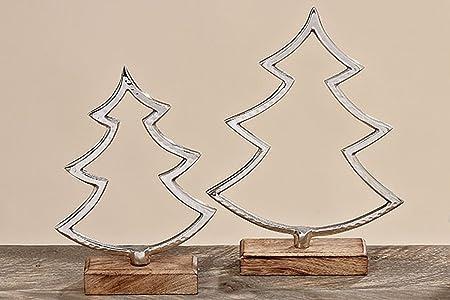 Ian Decorative Objects Stand Fir Wood Metal Silver