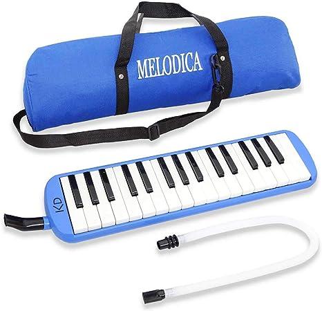 keepdrum Melodica 32 Teclas Azul Con Funda