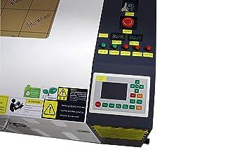 TEN-HIGH 1060 60W Máquina de corte y de grabado,con escritorio pequeña, versión offline, láser Máquina de Grabado, Cortador, DIY 1000x600mm 39.37x23.62 ...