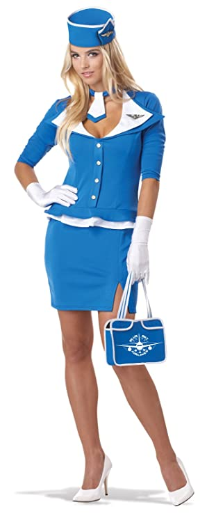 60s Costumes: Hippie, Go Go Dancer, Flower Child, Mod Style California Costumes Womens Retro Stewardess Costume $46.95 AT vintagedancer.com