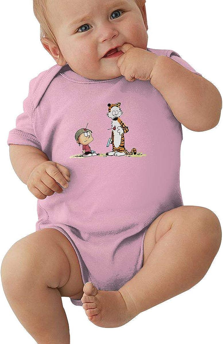 KinHui Elastic Black T Shirt for Baby Girl Calvin Hobbes Onesies 61XwPZpZoJL