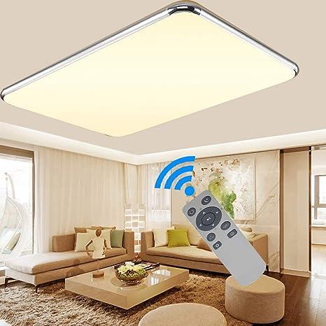 Ademay Led Modern Dimmbar Deckenleuchte Deckenlampe Flur Wohnzimmer Lampe Schlafzimmer Kuche Panel Leuchte Energie Sparen Licht 64w Amazon De Beleuchtung