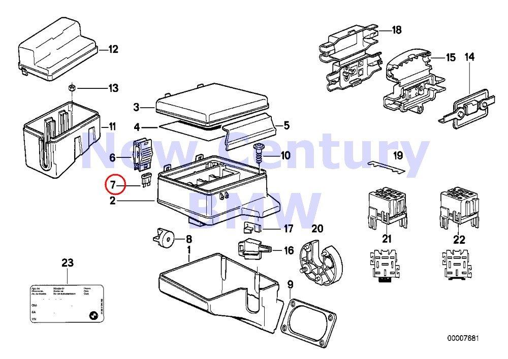 Amazon.com: BMW Genuine Fuse Box Single Components For Fuse ... on 92 bmw paint, 92 bmw 740i, 92 bmw z3, 92 bmw 325ic, 92 bmw 735i, 92 bmw 5 series white, 92 bmw 535i,