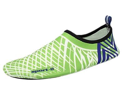 Water Shoes Wave Pool Beach Swim Aqua Socks Yoga Exercise Sports Slip On for Santimon Stripe
