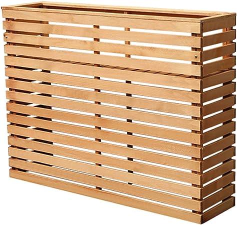 Cubre aire acondicionado de madera, estantes para plantas, porta flores de madera maciza, partición anticorrosiva, valla de flores de madera maciza, jardín al aire libre, columpio, exterior, macetero: Amazon.es: Hogar