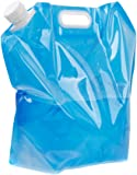 10L Folding Drinking Water Container Storage Bag Pouch for Camping Hiking Picnic BBQ Clear and Blue