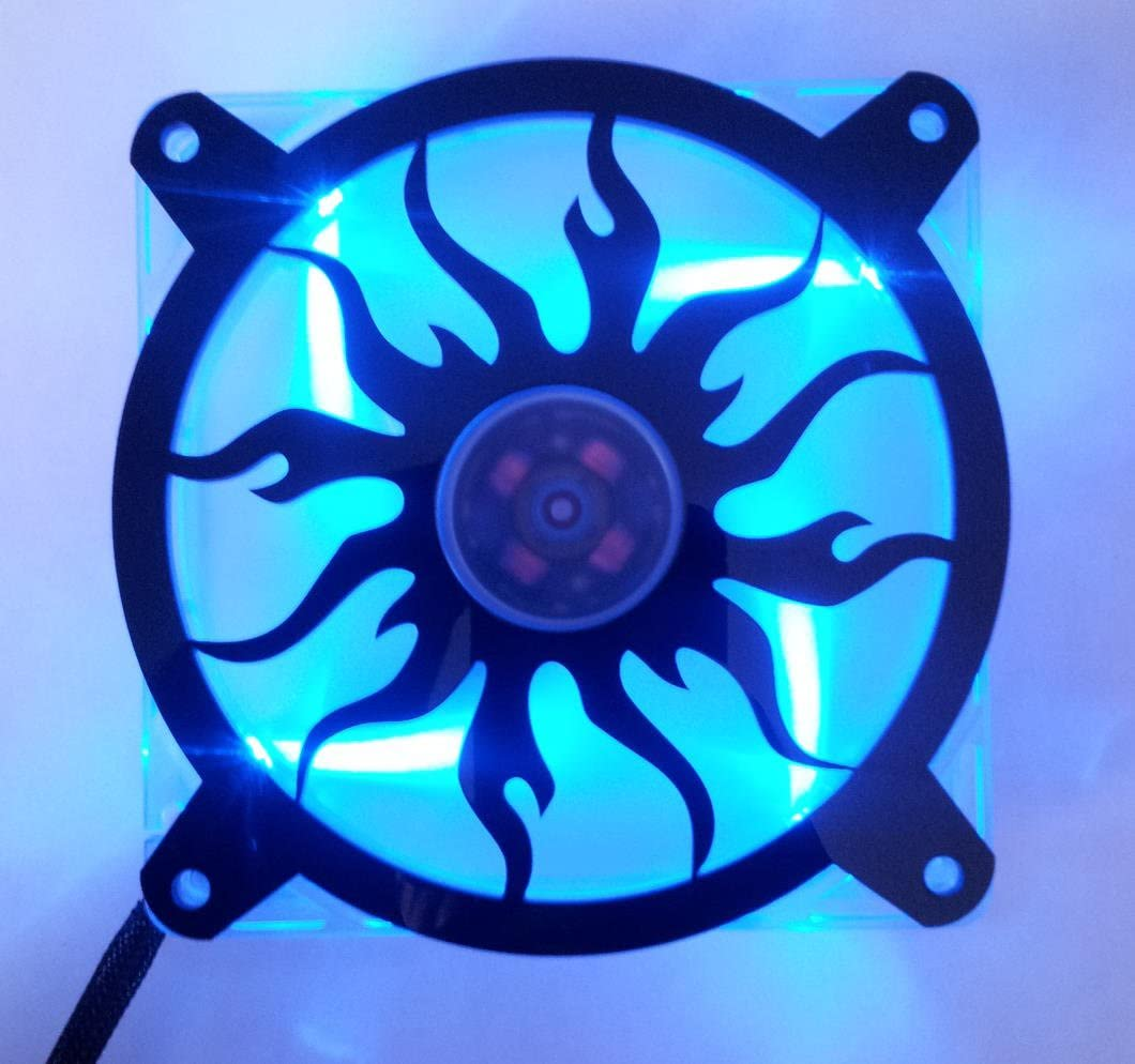 Custom 120mm DOUBLE DRAGON Computer Fan Grill Gloss Black Acrylic Cooling Cover