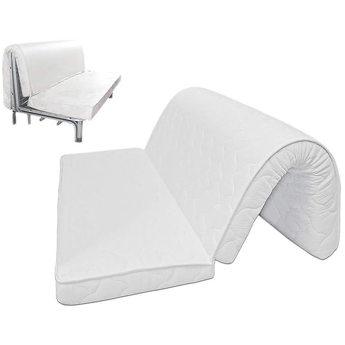 Baldiflex Brio Pronto Letto - Colchón para sofá cama, con pliegue para el asiento, ortopédico, ergonómico e hipoalergénico: Amazon.es: Hogar