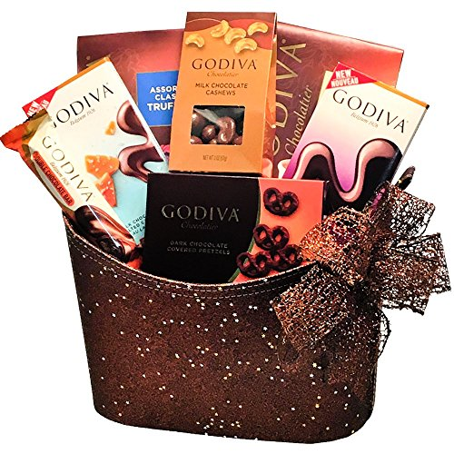 Godiva Chocolate Milk & Dark Truffles, Cashews, Pretzels and Bars Gift Basket