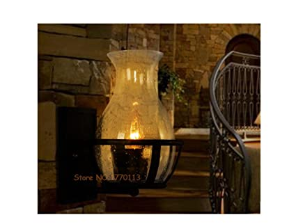 Xc@ vetro vaso forma paralume applique vetro vintage candela luce