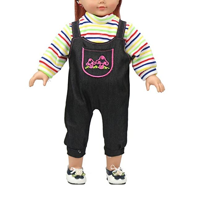 Hand-made Doll Clothes Plush Stuffed Accessories Rompers Suit 3pcs Gift N