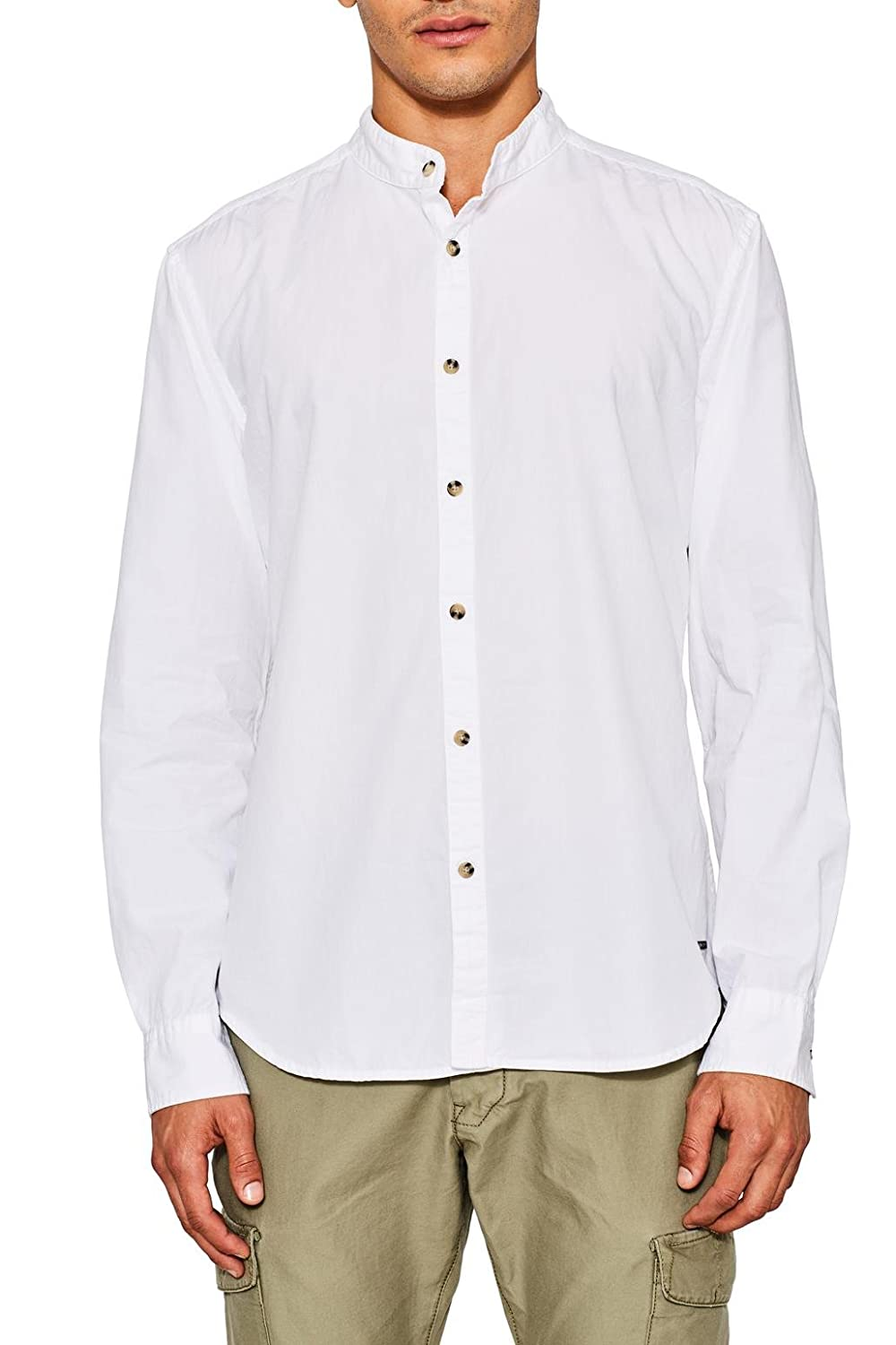 TALLA L. edc by Esprit 087cc2f010 Camisa, Blanco (White 100), Large para Hombre