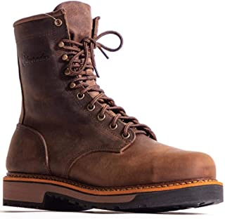 "product image for Abilene Silverado Men's 8"" Lace-Up Work Boot Soft Toe Brown 13 EE"