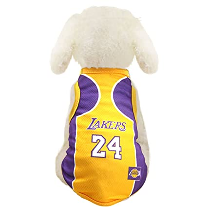 Dog Clothes NBA Basketball T-Shirt Dogs Costume Jersey for Cat Dog Pet  Lakers b842b55d0