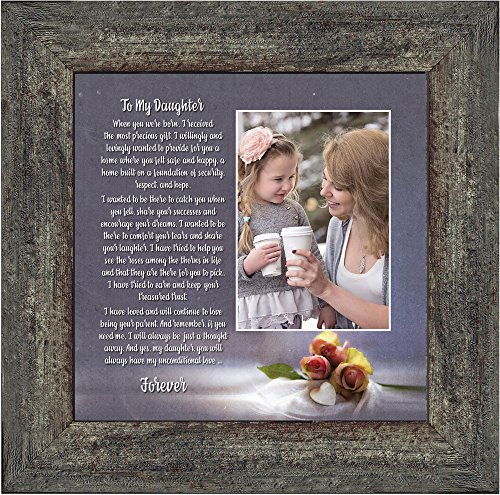 Personally Yours to My Daughter, Daughter Gifts from Mom, Daughter Picture Frame 10x10 6335BW