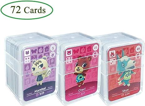 Tarjetas de juego NFC Tag para Animal Crossing, 72 piezas (No. 1-No. 72) Tarjetas de juego Nfc con estuche de cristal Compatible con Nintendo Switch / Wii U: Amazon.es: Videojuegos