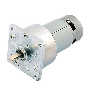 sourcingmap TJZ60FT76i DC 24V 45RPM alto par eléctrico de soldadura de baja velocidad Caja de engranajes del motor: Amazon.es: Bricolaje y herramientas
