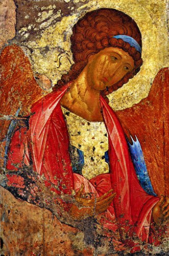 Archangel Michael Poster Print A3 Rublev Angels and Cherubs Christian catholic wall art