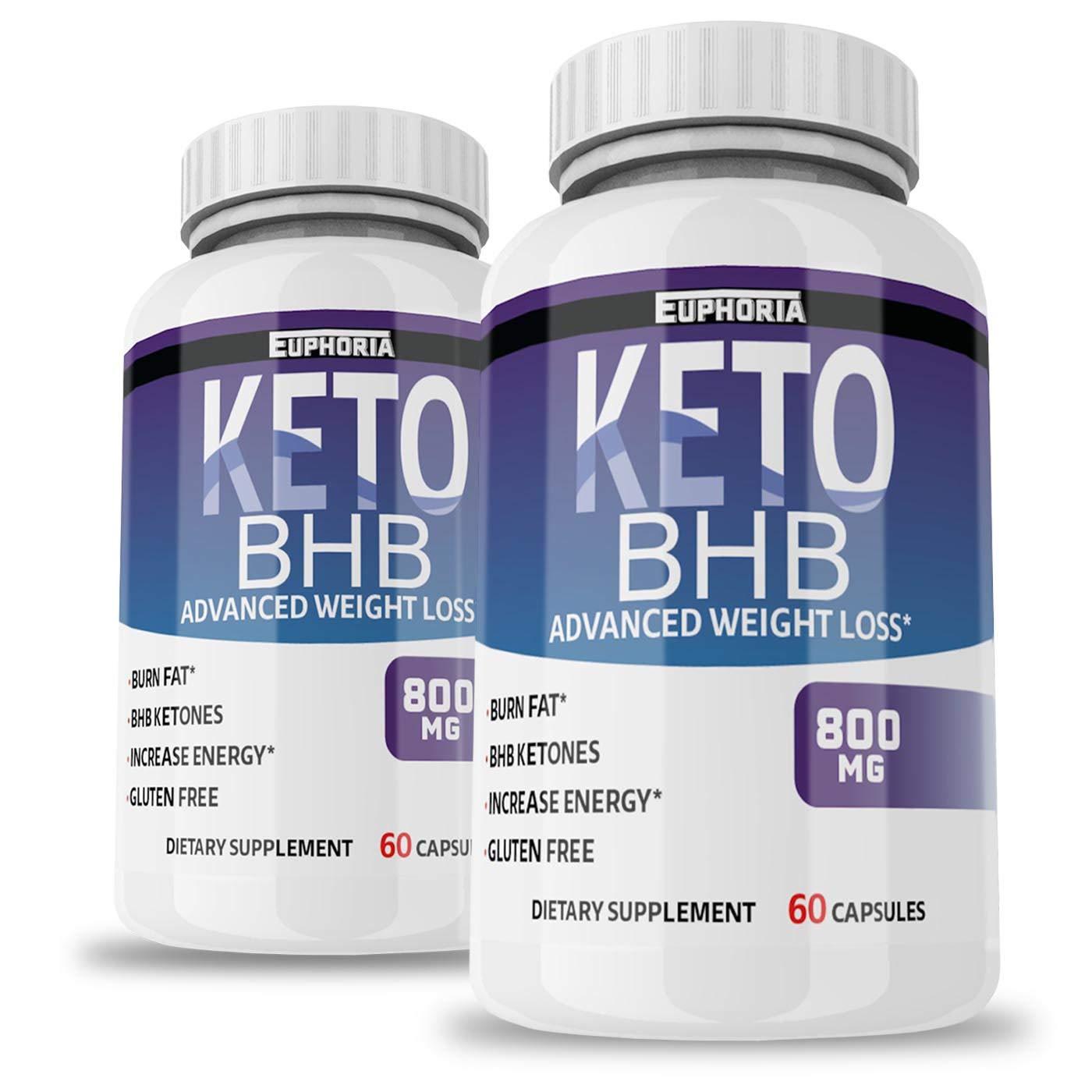 2 Pack Premium Keto Pills from Shark Tank - Best Keto BHB Pills - Weight Loss Supplement to Burn Fat - Boost Energy - Metabolism - Best Ketosis Supplement for Women and Men - Best Keto Diet