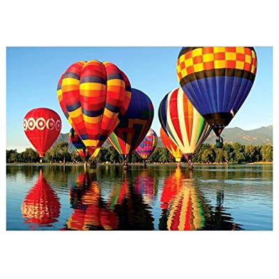 Puzzles for Adults Children's 1000 Piece Puzzle Game Hot Air Balloon Flight Interesting Toys Landscape Puzzles Work from Home: Toys & Games