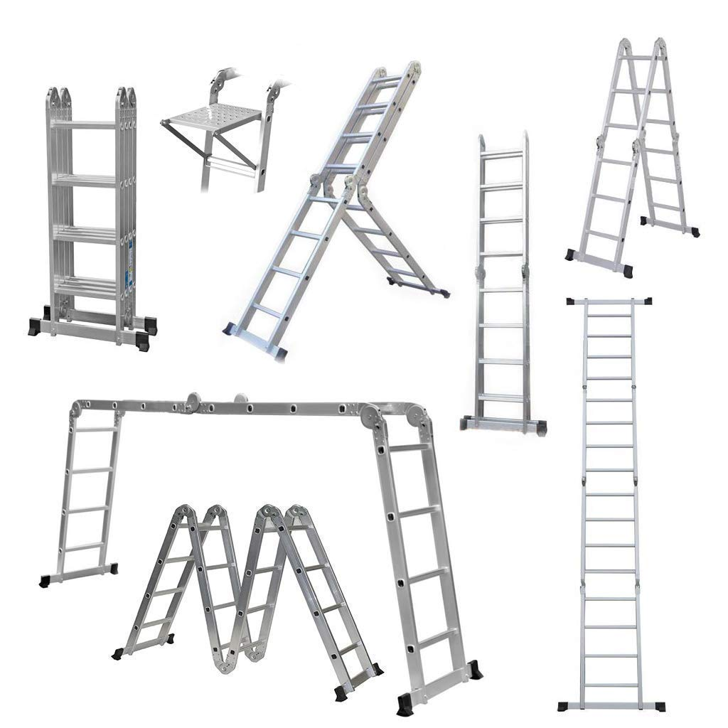 Manufactured to EN131 Specifications GABZ Multi Purpose Aluminium Folding Ladder 4.7M Ladder with Platforms