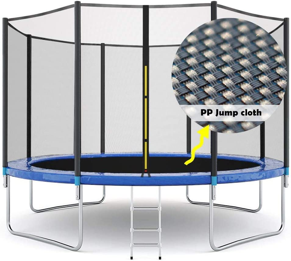 Outdoor Trampoline for Teens Adults xiannv 12 FT Kids Trampoline with Safety Enclosure Net and Waterproof Jumping Mat Ladder