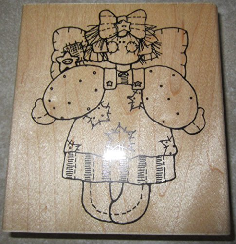 D.O.T.S. Dots Miss July Betsy S161 Angel Girl Country Wooden Rubber Stamp (Betsy Dot)