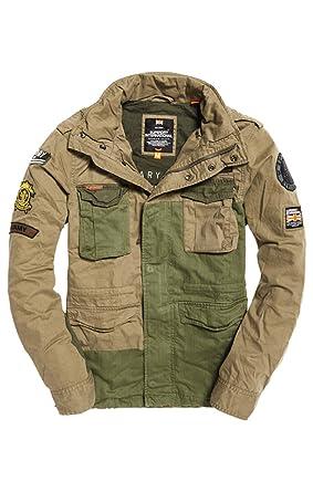 Superdry Rookiemixedmilitaryjacket, Manteau Homme, (Deepest Army Ovz), Large