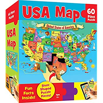 Amazoncom Kids Puzzle Of The USA Piece Toys Games - Us map puzzle for toddlers