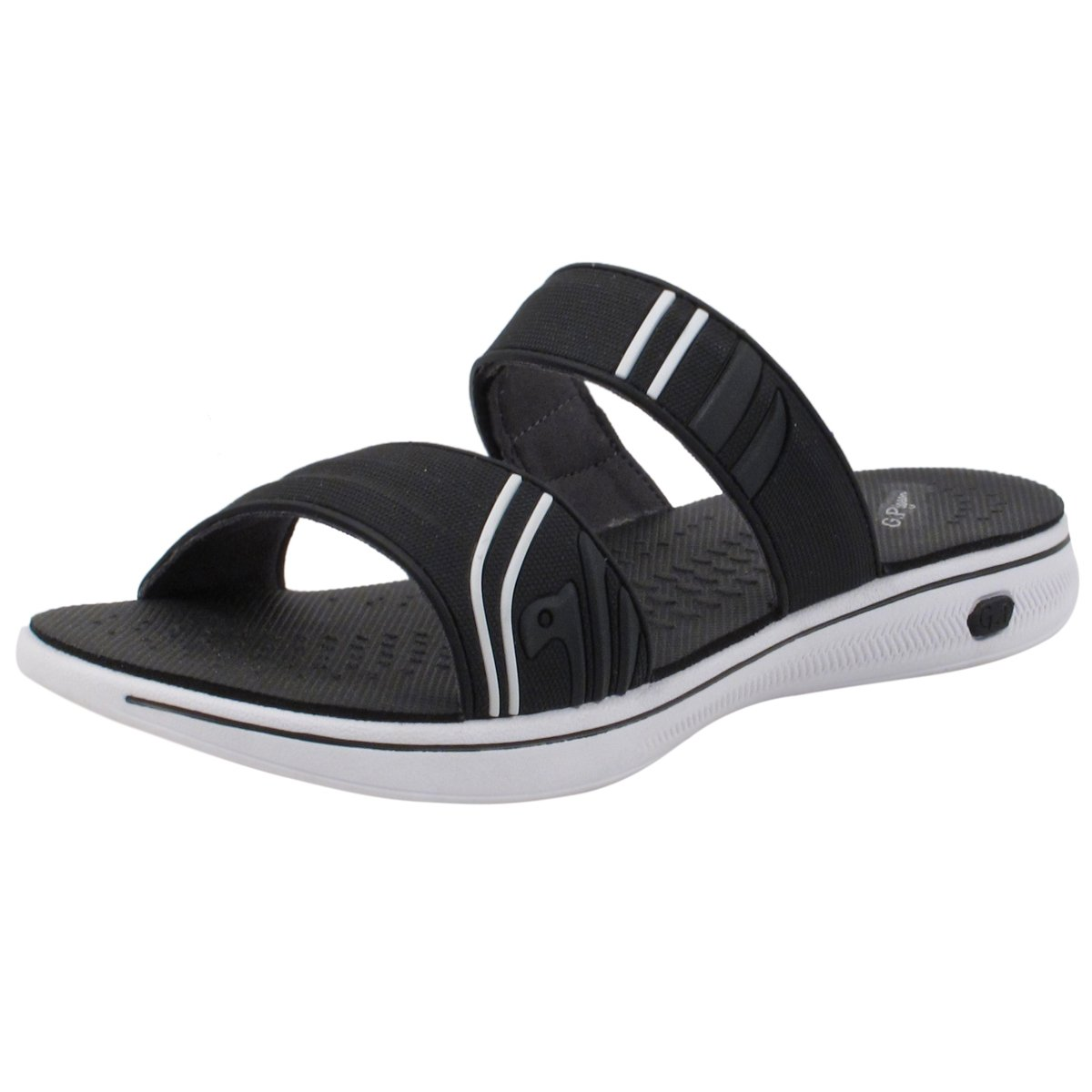Gold Pigeon Shoes EVA Anti-Fatique Light Weight Sandals for Men & Women B07DN7ZHXY EU38: Women 6.5/7|Slide Sandal: 8589 Black White